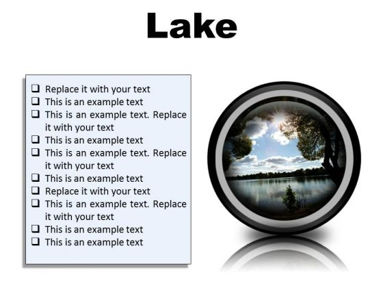 Lake Nature PowerPoint Presentation Slides Cc