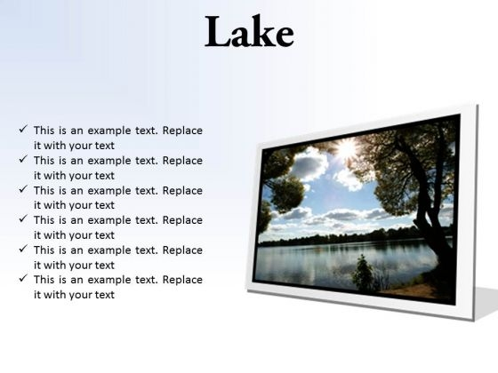 Lake Nature PowerPoint Presentation Slides F