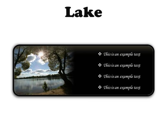 Lake Nature PowerPoint Presentation Slides R