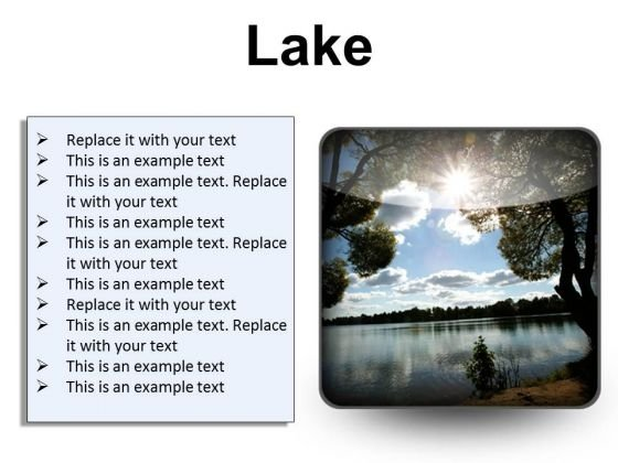 Lake Nature PowerPoint Presentation Slides S