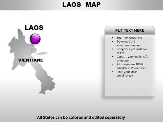 Laos Country PowerPoint Maps