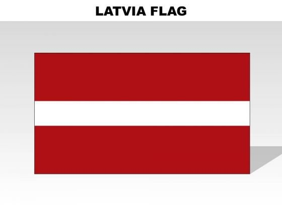 Latvia Country PowerPoint Flags