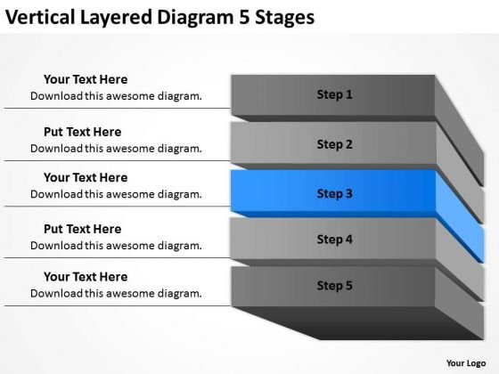 Layered Diagram 5 Stages Ppt Business Plan PowerPoint Slides