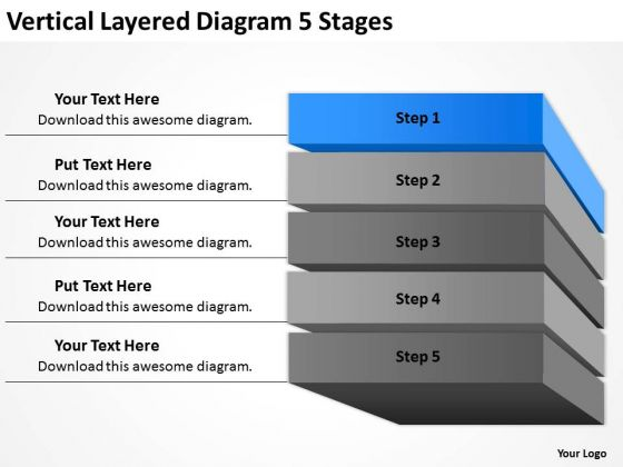 Layered Diagram 5 Stages Ppt Examples Of Business Plans For Small PowerPoint Slides