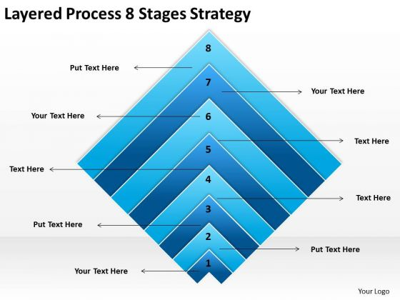 Layered Process 8 Stages Strategy Ppt Business Plan Preparation PowerPoint Slides