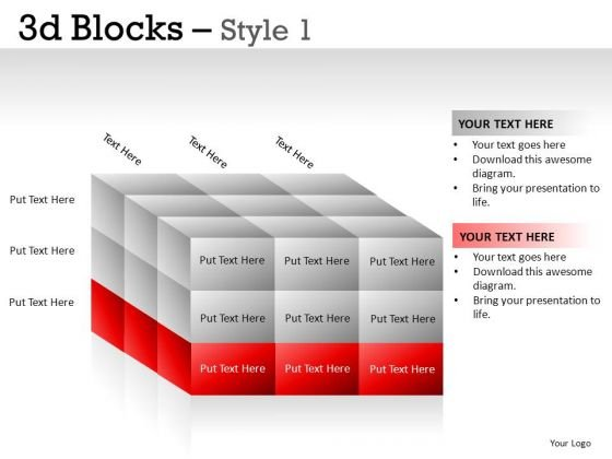 Layers 3d Blocks PowerPoint Slides And Ppt Template Diagrams
