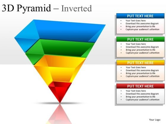 Layers 3d Pyramid Inverted PowerPoint Slides And Ppt Diagram Templates