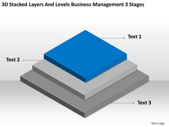 Layers And Levels Business Management 3 Stages Ppt Plans Sample PowerPoint Slides