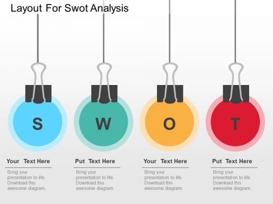 Layout For Swot Analysis PowerPoint Templates