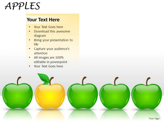 Leader Apples PowerPoint Slides And Ppt Diagram Templates