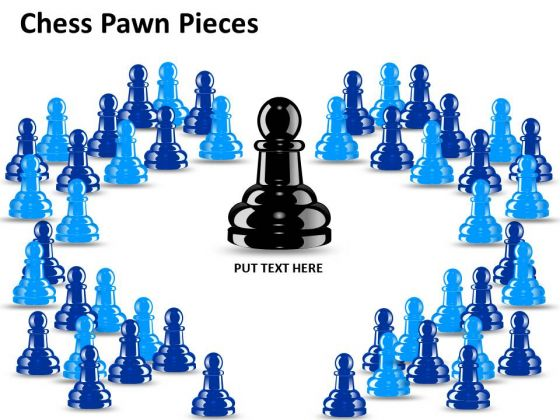 Leadership Chess Pawn Pieces PowerPoint Slides And Ppt Diagram Templates