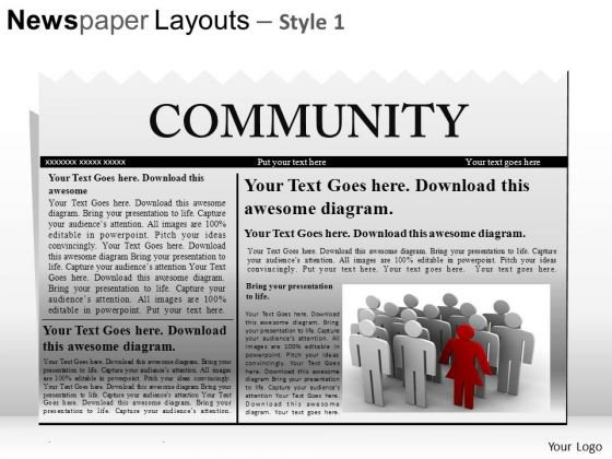 Leadership Newspaper Headline PowerPoint Slides And Ppt Templates