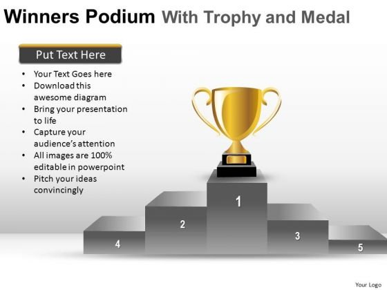 Leadership Winner PowerPoint Slides And Ppt Template Diagrams