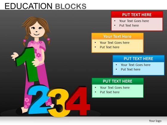 Learning Numbers Education PowerPoint Templates