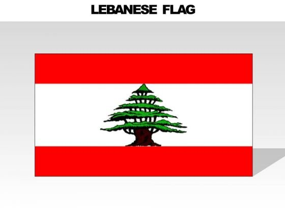 Lebanese Country PowerPoint Flags
