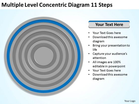 Level Concentric Diagram 11 Steps Ppt How To Write Business Plan PowerPoint Slides