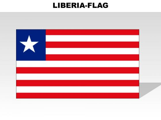 Liberia Country PowerPoint Flags