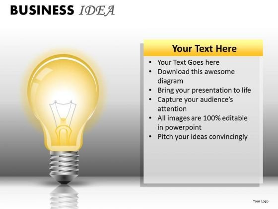 Light Bulb Ppt Slides