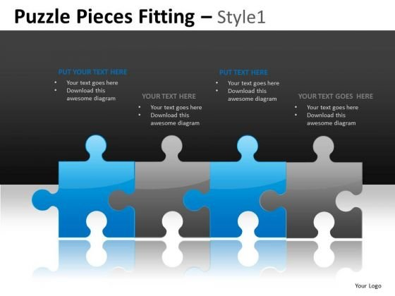 Line Of Jigsaws PowerPoint Slides And Editable Ppt Templates