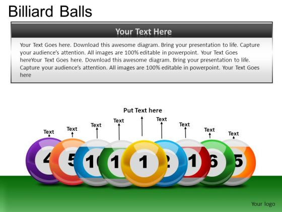 Line Up Billiard Balls PowerPoint Slides And Ppt Diagram Templates