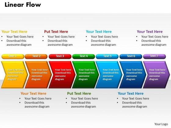 Linear Flow Power Point PowerPoint Presentation Template