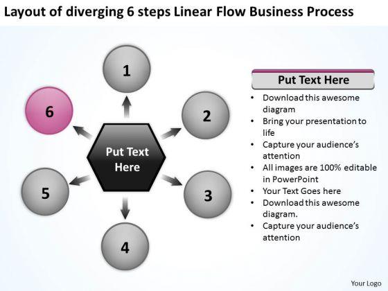 Linear Flow World Business PowerPoint Templates Process Business Gear
