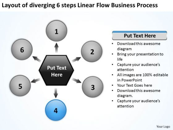 Linear Flow World Business PowerPoint Templates Process Gear