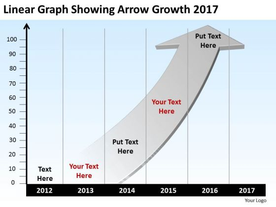 Linear Graph Showing Arrow Growth 2017 PowerPoint Templates Ppt Slides Graphics