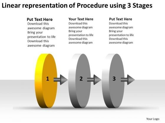 Linear Representation Of Procedure Using 3 Stages Wire Schematic PowerPoint Slides