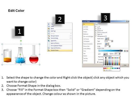 Liquid Flasks PowerPoint Templates Chemistry Ppt Slides - PowerPoint