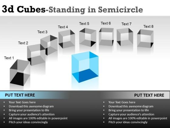 List 3d Cubes Text Boxes PowerPoint Slides And Ppt Diagram Templates