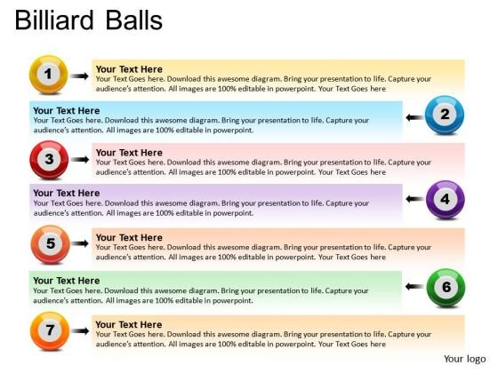 List Text Billiard Balls PowerPoint Slides And Ppt Diagram Templates