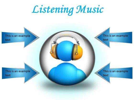 Listen Music Entertainment PowerPoint Presentation Slides C