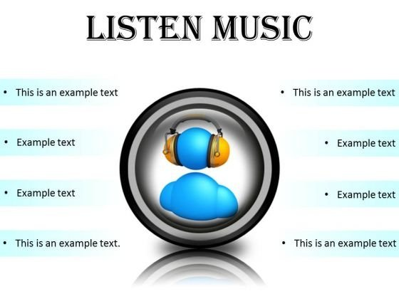 Listen Music Entertainment PowerPoint Presentation Slides Cc