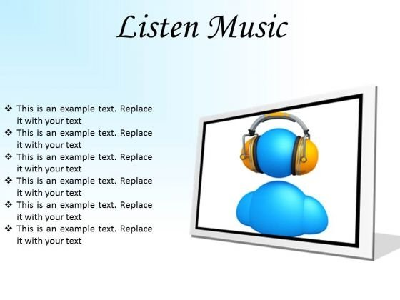 Listen Music Entertainment PowerPoint Presentation Slides F