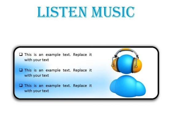 Listen Music Entertainment PowerPoint Presentation Slides R