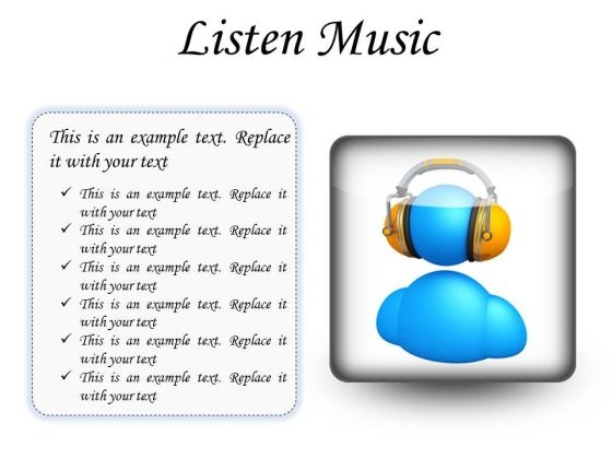 Listen Music Entertainment PowerPoint Presentation Slides S