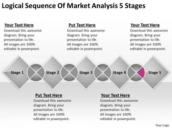 Logical Sequence Of Market Analysis 5 Stages Download Business Plans PowerPoint Templates