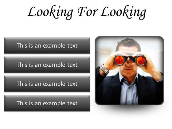 Looking For Success Business PowerPoint Presentation Slides S