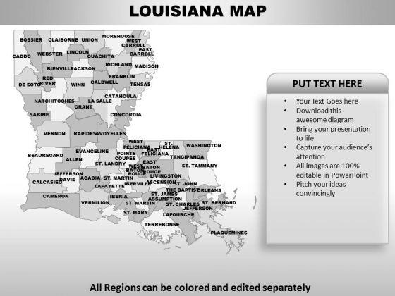 Louisiana PowerPoint Maps