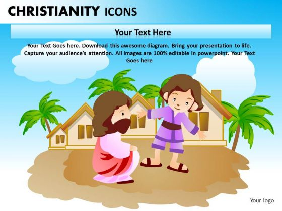 Love Jesus PowerPoint Ppt Templates