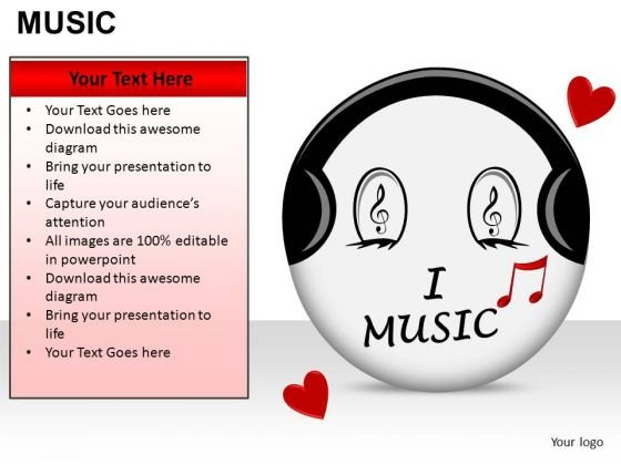 Love Music PowerPoint Slides And Ppt Diagram Templates