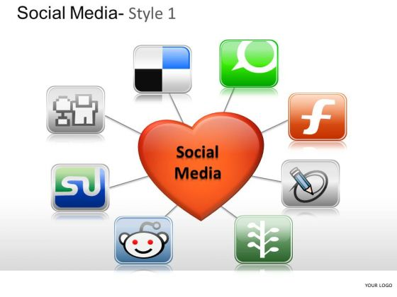 Love Social Media 1 PowerPoint Slides And Ppt Diagram Templates