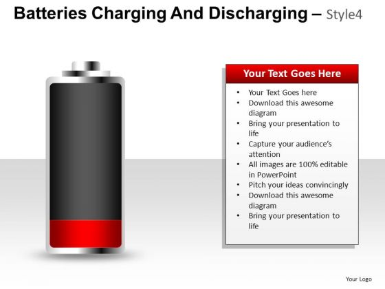 Low On Energy Battery PowerPoint Slides And Ppt Template Diagrams