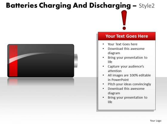 Low Power Batteries Charging And Discharging PowerPoint Slides And Ppt Diagram Templates