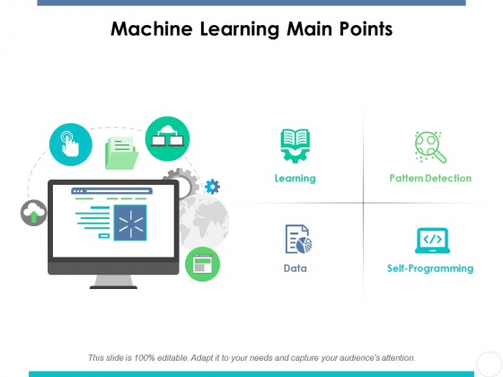 Machine Learning Main Points Ppt PowerPoint Presentation Diagram Graph Charts