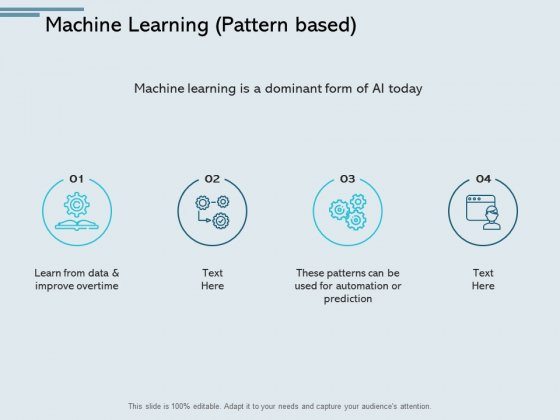 Machine Learning Pattern Based Gears Ppt PowerPoint Presentation Inspiration Professional