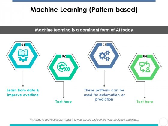 Machine Learning Pattern Based Ppt PowerPoint Presentation Infographic Template Deck