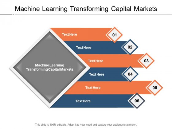 Machine Learning Transforming Capital Markets Ppt PowerPoint Presentation Gallery Graphics Download Cpb Pdf