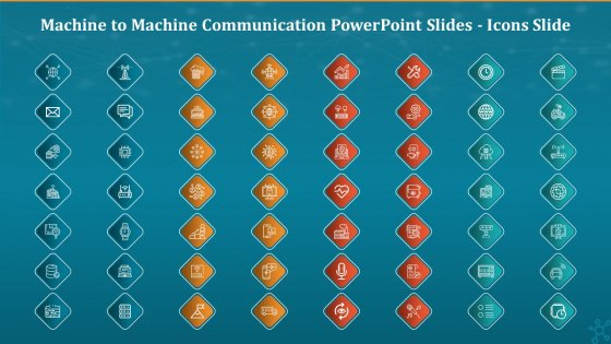 Machine To Machine Communication PowerPoint Slides Icons Slide Diagrams PDF